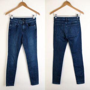 Theory Dracie Smyth Skinny Dark Wash Jeans